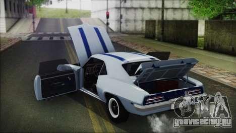 Pontiac Firebird Trans Am Coupe (2337) 1969 для GTA San Andreas вид сбоку