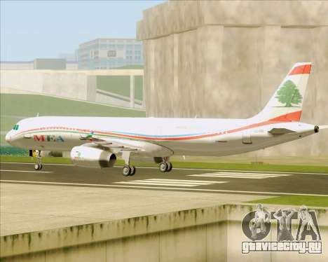 Airbus A321-200 Middle East Airlines (MEA) для GTA San Andreas вид сзади