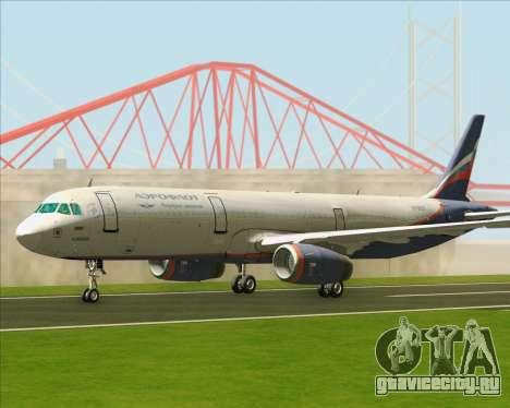 Airbus A321-200 Aeroflot - Russian Airlines для GTA San Andreas вид слева