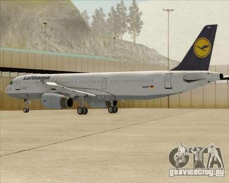 Airbus A321-200 Lufthansa для GTA San Andreas вид сверху