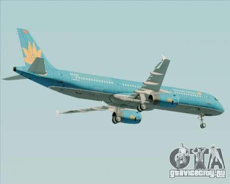 Airbus A321-200 Vietnam Airlines для GTA San Andreas вид изнутри