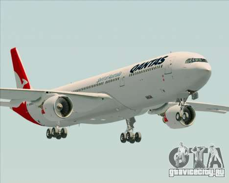 Airbus A330-300 Qantas (New Colors) для GTA San Andreas вид сбоку
