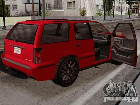Albany Cavalcade для GTA San Andreas вид сзади