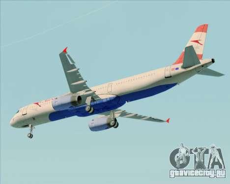 Airbus A321-200 Austrian Airlines для GTA San Andreas вид изнутри