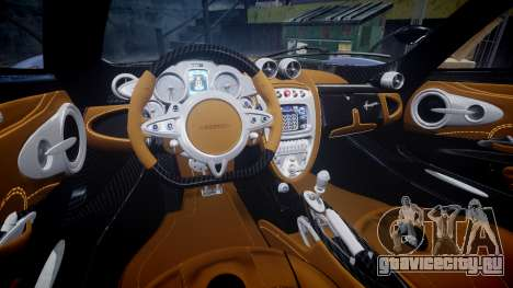 Pagani Huayra 2013 Carbon для GTA 4 вид изнутри