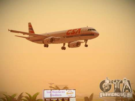 Airbus A321-232 Czech Airlines для GTA San Andreas вид сбоку
