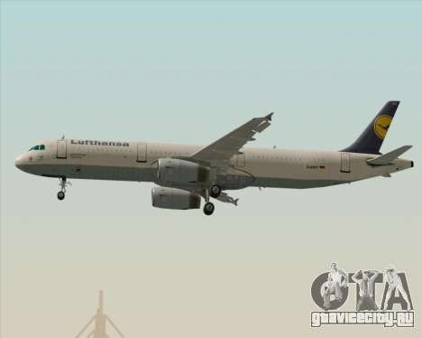 Airbus A321-200 Lufthansa для GTA San Andreas двигатель