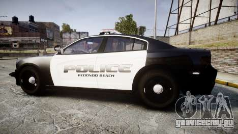 Dodge Charger 2014 Redondo Beach PD [ELS] для GTA 4 вид слева