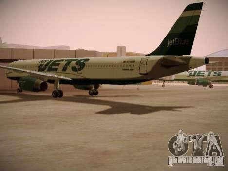 Airbus A321-232 jetBlue NYJets для GTA San Andreas вид справа