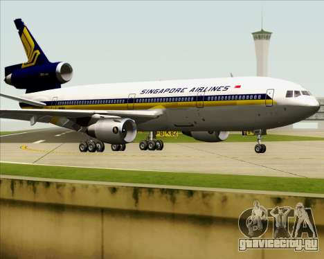 McDonnell Douglas DC-10-30 Singapore Airlines для GTA San Andreas вид сбоку
