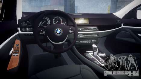 BMW 530d F11 Unmarked Police [ELS] для GTA 4 вид изнутри