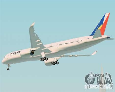Airbus A350-900 Philippine Airlines для GTA San Andreas вид сзади