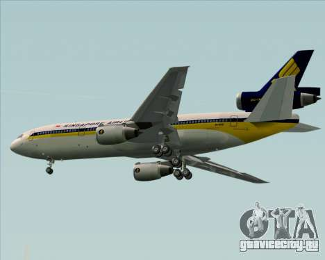 McDonnell Douglas DC-10-30 Singapore Airlines для GTA San Andreas двигатель