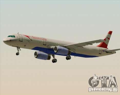 Airbus A321-200 Austrian Airlines для GTA San Andreas вид сверху