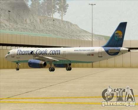Airbus A321-200 Thomas Cook Airlines для GTA San Andreas двигатель