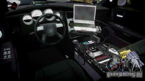 Dodge Charger 2010 LC Sheriff [ELS] для GTA 4 вид сзади