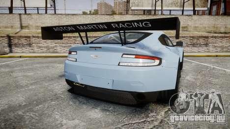 Aston Martin Vantage GTE [Updated] для GTA 4 вид сзади слева