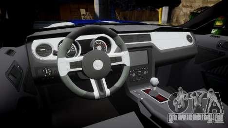 Ford Mustang GT 2014 Custom Kit PJ4 для GTA 4 вид изнутри
