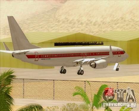 Boeing 737-800 EG&G - Janet для GTA San Andreas вид сбоку