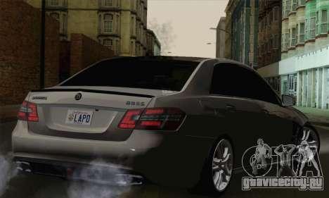 Mercedes-Benz W212 для GTA San Andreas вид слева