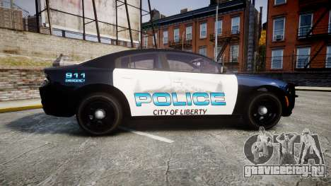 Dodge Charger 2015 City of Liberty [ELS] для GTA 4 вид слева