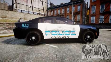 Dodge Charger 2015 City of Liberty [ELS] для GTA 4 вид слева