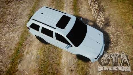 Jeep Grand Cherokee SRT8 stock для GTA 4 вид справа
