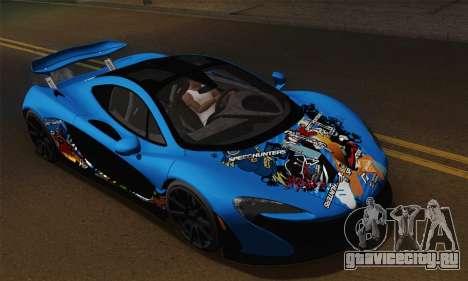 McLaren P1 Black Revel для GTA San Andreas вид справа