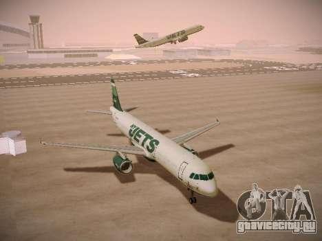 Airbus A321-232 jetBlue NYJets для GTA San Andreas вид сзади