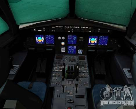 Airbus A321-200 Aeroflot - Russian Airlines для GTA San Andreas салон