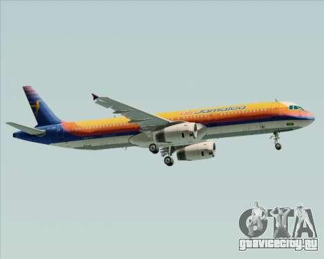 Airbus A321-200 Air Jamaica для GTA San Andreas вид сбоку