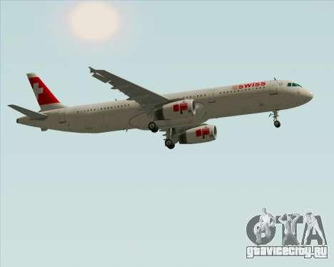 Airbus A321-200 Swiss International Air Lines для GTA San Andreas вид изнутри
