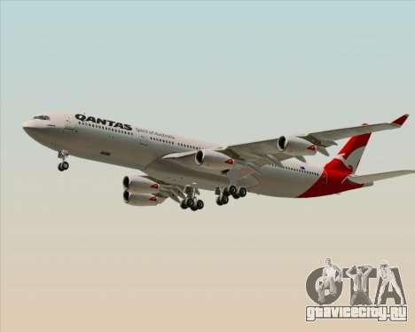 Airbus A340-300 Qantas для GTA San Andreas вид слева
