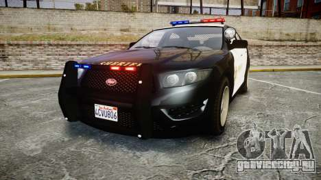 GTA V Vapid Interceptor LSS Black [ELS] для GTA 4