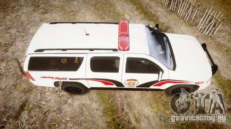 Chevrolet Suburban 2008 Hebron Police [ELS] Red для GTA 4 вид справа