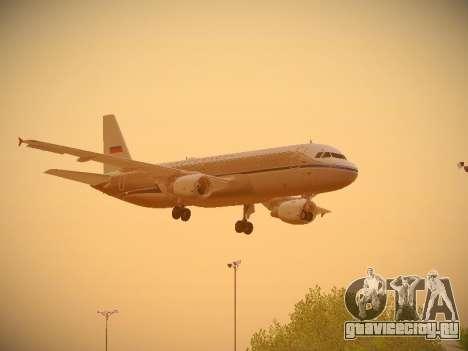 Airbus A320-214 Aeroflot Retrojet для GTA San Andreas вид изнутри
