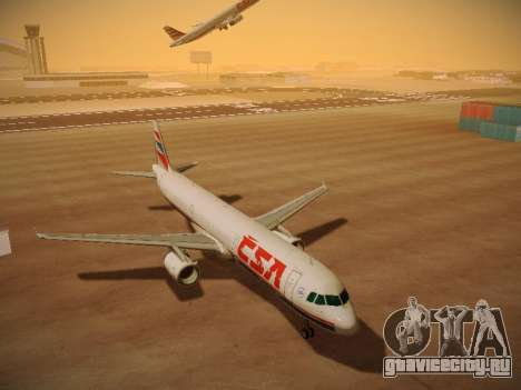 Airbus A321-232 Czech Airlines для GTA San Andreas вид сзади слева