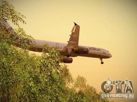 Airbus A321-232 jetBlue I love Blue York для GTA San Andreas двигатель