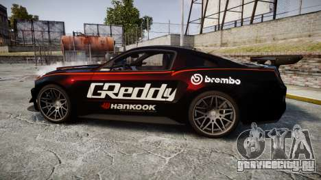 Ford Mustang GT 2014 Custom Kit PJ4 для GTA 4 вид слева