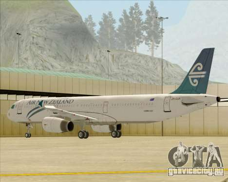Airbus A321-200 Air New Zealand для GTA San Andreas колёса