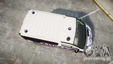 Renault Trafic Police Nationale для GTA 4 вид справа