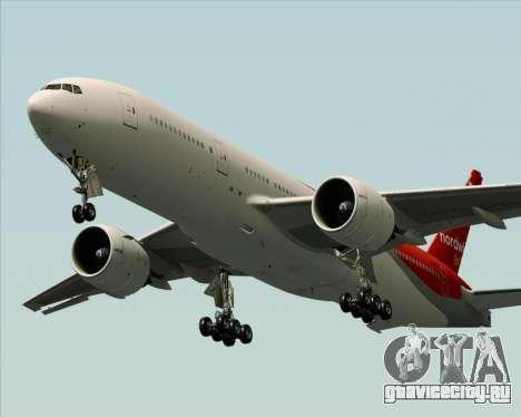 Boeing 777-21BER Nordwind Airlines для GTA San Andreas двигатель