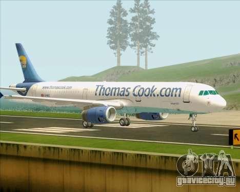 Airbus A321-200 Thomas Cook Airlines для GTA San Andreas вид справа