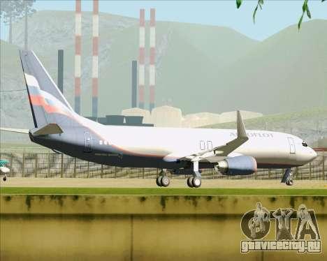 Boeing 737-8LJ Aeroflot - Russian Airlines для GTA San Andreas вид снизу