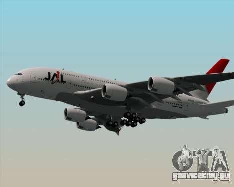 Airbus A380-800 Japan Airlines (JAL) для GTA San Andreas вид сзади слева