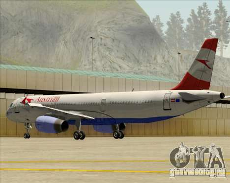 Airbus A321-200 Austrian Airlines для GTA San Andreas вид снизу