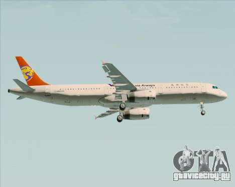 Airbus A321-200 TransAsia Airways для GTA San Andreas вид изнутри