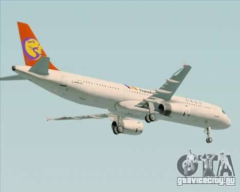 Airbus A321-200 TransAsia Airways для GTA San Andreas вид сбоку