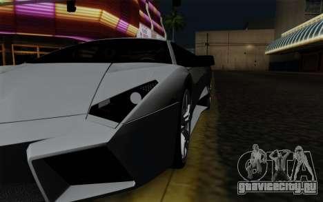 Lamborghini Reventon 2008 для GTA San Andreas вид изнутри