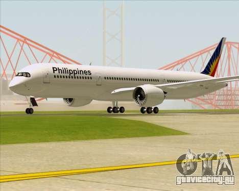 Airbus A350-900 Philippine Airlines для GTA San Andreas вид сзади слева